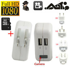 8G HD 1080P Spy Hidden Camera AC power Adapter Motion Detection Plug Record Cams