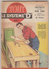 """Revue """"Tout le Système D"""" N°85 janvier 1953 Etabli Jeu de course relieuse"""