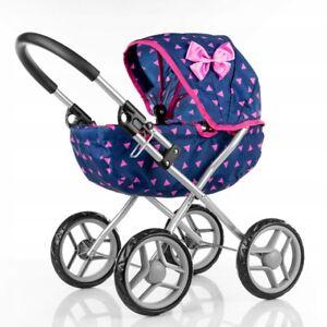 Large Doll's Pram Wheel Pushchair Dolls Pram Christmas Gift for Girl Xmas