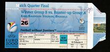 TICKET EURO 2000 Italy - Romania 24.6.2000 1/4 FINAL, Brussels / Belgium #26