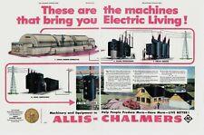 1954 2 Page Original Vintage Centerfold Allis-Chalmers Machinery Magazine Ad
