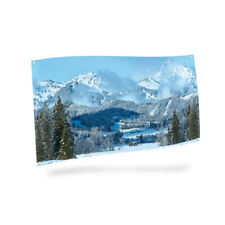 My Village-Mountain Landscape-Background cloth, Christmas Village,
