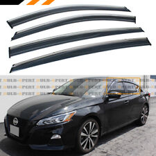FOR 19-2020 NISSAN ALTIMA CHROME TRIM CLIP-ON WINDOW VISOR RAIN GUARD DEFLECTOR