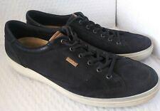Ecco Black Nubuck Leather Low Top Fashion Sneakers EU Sz 48