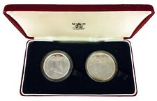 More details for royal mint -wwf conservation- 1979 falkland islands silver proof £10 £5 coin set