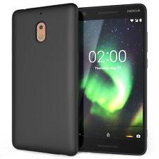 Nokia 2.1 Case, Slim Silicone Ultra Soft Gel Best Phone Cover - Matte Black UK