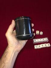 Deluxe Die Cup w/Complete Poker Dice Set Plus..