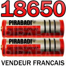 2 x LITHIUM ION PILE 3,7 V 6800mAh Type 18650 Li-ion 65 x 18 mm BATTERIE ACCU