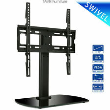 Universal Table top TV Base Stand with Swivel Mount for 27-55 inch LCD LED TVs