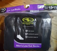 New! ATHLETIC WORKS  Men's  Big And Tall low cut SOCKS Size13-15  10-pack