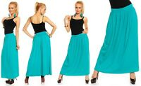 "Skirt Elastic Waist Chiffon Gypsy Women Ladies Long Jersey Maxi Dress Boho ""Rom"""