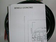 IMPIANTO ELETTRICO ELECTRICAL WIRING MOTO BENELLI LEONCINO 125 BATTERIA + SCHEMA