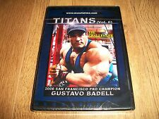BODYBUILDING DVD-Titans Gustavo Badell (New & Sealed)-FREE 1st CLASS POST!!!!!