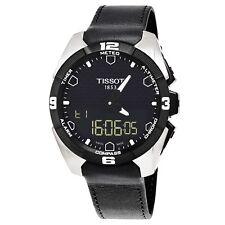 Tissot Men's T Touch Expert Black Dial Leather Strap Quartz Watch T0914204605100