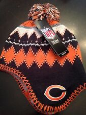 new product afaed 14724 Chicago Bears NEW Youth Fleece Lined Jacquard Tassel Knit Hat . NFL Football  Fan