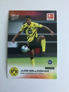 Topps Now Jude Bellingham ROOKIE CARD First Bundesliga Goal  Brand New Mint BVB