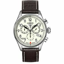 Junkers Spitzbergen F13 Mens Chronograph Leather Strap Date Watch 6186-5