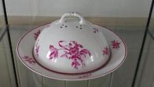 Fine Antique Damon et Delente Limoges Paris Floral Porcelain Muffin Dish C 1860