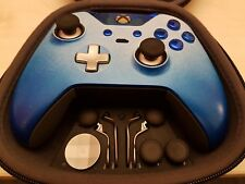 Customised Official XBOX ONE Elite contrôleur-Premium Blue Two Tone Edition