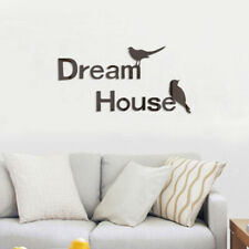 3D Dream House Acrylic Stereo Wall Sticker Living Room Sofa Photo Bedroom