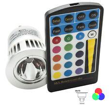 Faretto lampada led gu10 rgb 5w cromoterapia 16 colori luce 220v telecomando ir