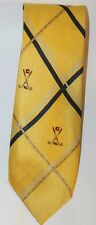 Chaps Ralph Lauren Yellow Men Neck tie 100% Italian Silk Canada Golf Diamond