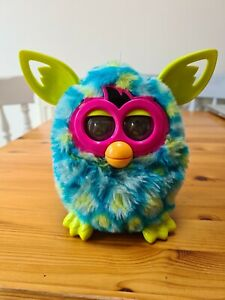 Furby Boom Peacock Hasbro toy pet teal blue green 2012.Tested and working