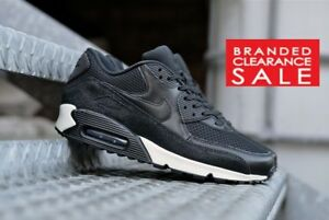 BNIB New Men Nike Air Max 90 Leather stingray sea glass black  8 9 7 UK