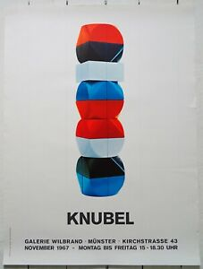 Original Ausstellungsplakat Poster RUDOLF KNUBEL 1967 Galerie Wilbrand Münster