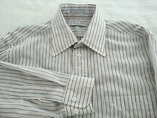 Vintage CHRISTIAN DIOR Chemises Mens Long Sleeve Dress Shirt Polyester Sz 15 1/2
