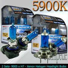 9005 & H7 5900K SUPER WHITE XENON HALOGEN LIGHT BULBS