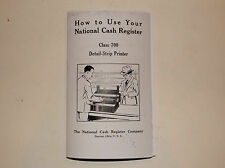 """HOW TO USE"" YOUR NATIONAL CASH REGISTER ALL METAL CLASS 700 NCR"