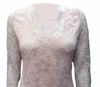 Womens Ladies New Celebrity Style V Neck Slim Fitting Lace Dress (Size 8-14)