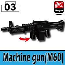 Machine Gun M60 (W146) General Purpose Machine compatible w/toy brick minifigure