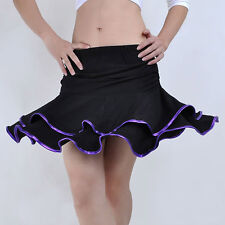 Flamenco Latin Cha Cha Ballroom belly Dance Short Skirt 9 Colors