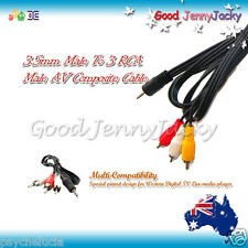 3.5mm Plug To 3 RCA AV Composite Cable for WD TV Live & Multi-Compatibility OMTP