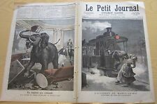 le petit journal 1891 n° 51 éléphant à toulouse accident train marly le roi