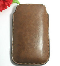 New Leather Pocket Case Cover Pouch for Apple iPhone 4S 4G Brown