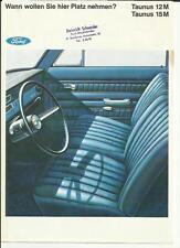 FORD TAUNUS 12M & 15m brochure di vendita in ritardo di 60 della lingua tedesca