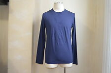 YVES SAINT LAURENT BLUE YSL FRONT DETAILED PRINT LOGO LONG SLEEVES T SHIRT S L