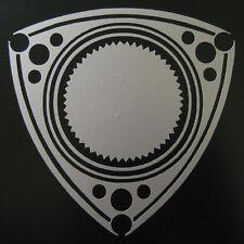 VINYL ROTOR DECAL STICKER ROTARY ENGINE RX7 RX2 RX8 REPU WANKEL POWER SILVER 2pc
