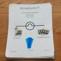 LED lamps bulbs for vintage Mcintosh MR77 MR73 MR78  Tuner lights