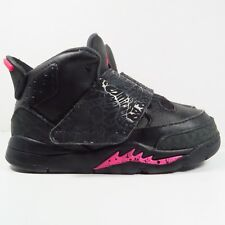 Jordan Son of Mars Black and Pink Sneakers in Size 7C (Toddler)