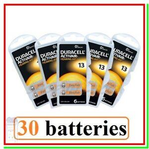 30 Batterie DURACELL 13 PR48 Activair Protesi Pile per Apparecchi Acustici Udito