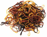 250 Mini Brown Hair Elastics Rubber Bands Braids Braiding Plaits Small Bands
