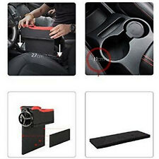 Leather Car Seat Gap Catcher Pocket Coin Storage Box & Cup Holder Perfect Use