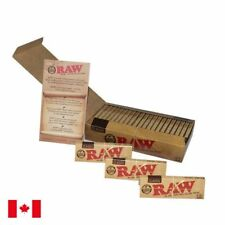 RAW Classic 1 1/4 Natural Unrefined Rolling Papers - 3 Booklets