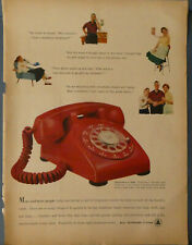 PRINT AD 1962 BELL TELEPHONE SYSTEM - RED ROTARY PHONE