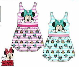Abbigliamdento bambina vestito Minnie da bimba in cotone 3 4 6 8 anni disney