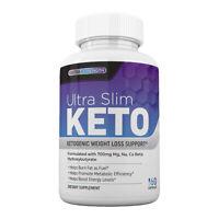 Ultra Slim Keto Pills, Diet, Weight Loss, Burn Fat Fast, BHB Salts, 7-Keto DHEA